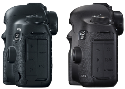 canon 5d mkiv vs mkiii left side